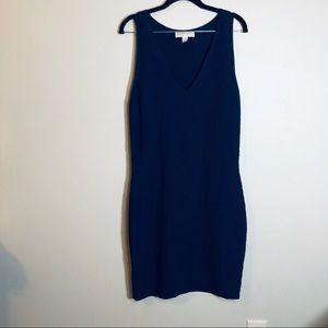 Michael Kors Fitted Midi Knit Dress | size L